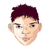 Boy face drawing looking right Stock Photo