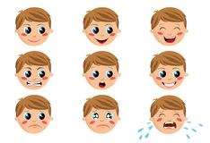 Boy Face Expressions Stock Photos