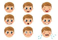 Boy Face Expressions Stock Photos