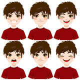 Boy Face Expressions Royalty Free Stock Images