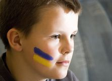 Boy with face paint Stock Photos