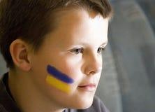 Boy with face paint Stock Photos