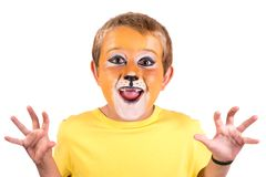 Boy with face-paint royalty free stock images