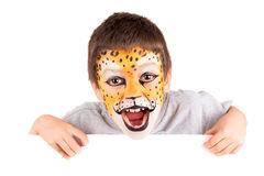 Boy with face-paint Stock Photo