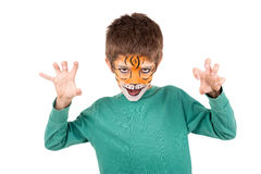 Boy with face-paint Stock Photography