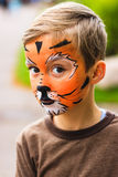 Boy with face painting Stock Photos
