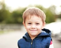 Boy face smiling Stock Photos