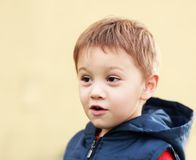 Boy face smiling Stock Images