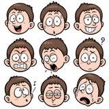 Boy face. Vector illustration of Boy face set Royalty Free Stock Image