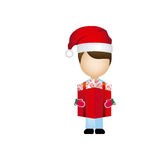 boy faceless with gift christmas Royalty Free Stock Photography