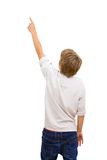 Boy facing with back pointing. Royalty Free Stock Photos
