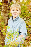 Boy in fall time Stock Image