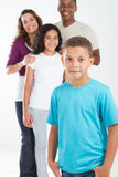 Boy and Family Stock Photo