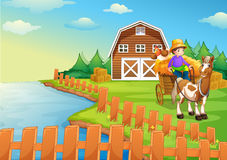 A boy at the farm Royalty Free Stock Photography