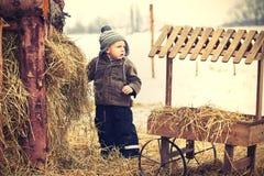 Boy on the farm Royalty Free Stock Photography