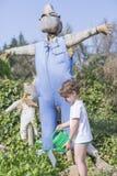 Boy farming the garden Royalty Free Stock Image
