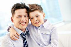Boy with father Royalty Free Stock Image