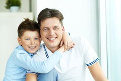 Boy with father Royalty Free Stock Photo