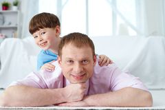Boy with father Royalty Free Stock Photography