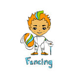 Boy fencer with a mask Royalty Free Stock Photos