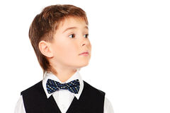 Boy in festive suit Stock Images