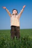 Boy in field Stock Photos