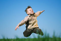 Boy in field Royalty Free Stock Photography
