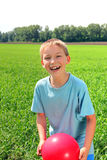 Boy in the field Royalty Free Stock Photos