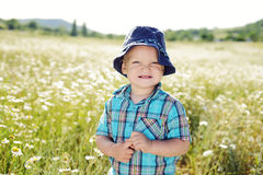 Boy in field Royalty Free Stock Photos