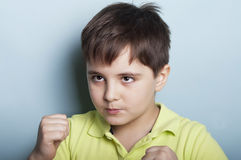 Boy fighting Royalty Free Stock Photo