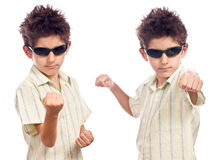 Boy self defence Royalty Free Stock Photography