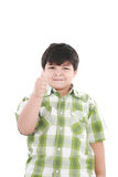 Boy with finger up Royalty Free Stock Photo