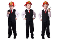 Boy Fire chief Royalty Free Stock Image