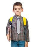 Boy in first day of school Royalty Free Stock Images