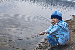 Boy fisherman Royalty Free Stock Photo