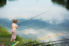 Free Boy Fishing Royalty Free Stock Photo - 23449875