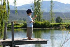 Free Boy Fishing Stock Photo - 30450120