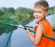 Boy Fishing Stock Photography