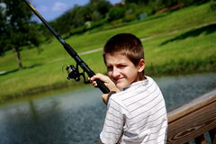 Free Boy Fishing Royalty Free Stock Images - 6339959