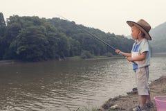 Boy fishing Royalty Free Stock Image