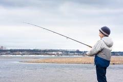 Boy on the fishing Royalty Free Stock Photo