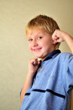 Boy with fists Stock Image