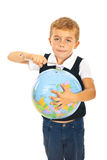 Boy fix the world Stock Photos