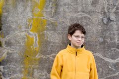 Boy in   Fleece Pullover Royalty Free Stock Photography