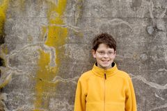 Boy in  Fleece Pullover Royalty Free Stock Photos