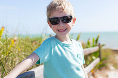 Boy in florida Royalty Free Stock Photo