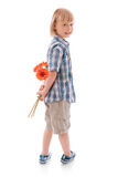 Boy with flower stock photos