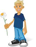 Boy with flower Royalty Free Stock Photo
