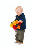 Boy with a flowers Stock Photo