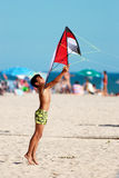 Boy flying the kite Royalty Free Stock Image